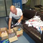 AMD board member Don W. Neil is preparing toiletry bags